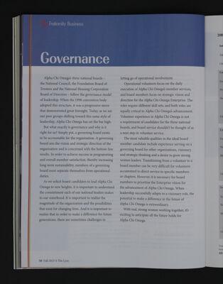 Governance, Fall 2015