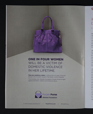 Purple Purse Advertisement, Fall 2015