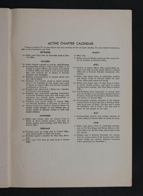 Active Chapter Calendar, November 1948