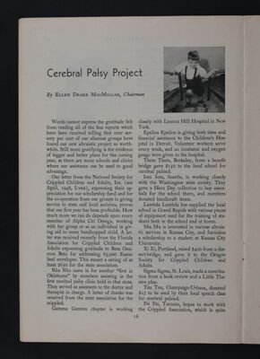 Cerebral Palsy Project, November 1948