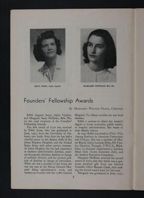 Founders' Fellowship Awards, November 1948
