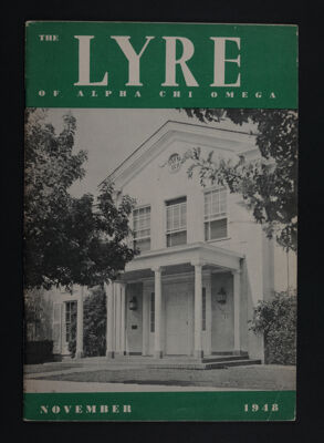 The Lyre of Alpha Chi Omega, Vol. 52, No. 1 Front Cover
