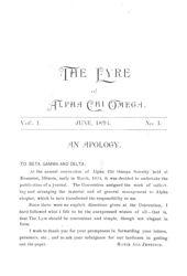 The Lyre of Alpha Chi Omega, Vol. 1, No. 1, June 1894