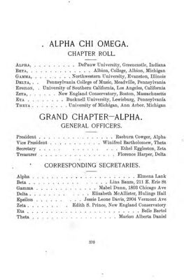 The Lyre of Alpha Chi Omega, Vol. 4, No. 3, November 1899