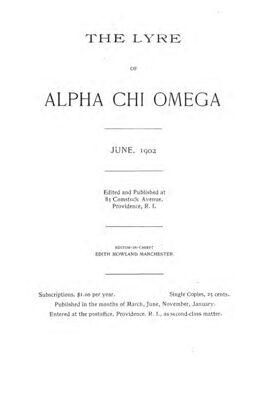 The Lyre of Alpha Chi Omega, Vol. 6, No. 2, June 1902