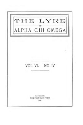 The Lyre of Alpha Chi Omega, Vol. 6, No. 4, January 1903