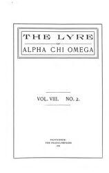 The Lyre of Alpha Chi Omega, Vol. 8, No. 2, June 1904