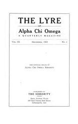 The Lyre of Alpha Chi Omega, Vol. 9, No. 2, December 1905