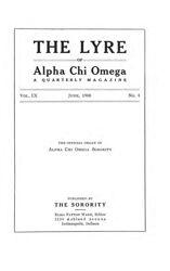 The Lyre of Alpha Chi Omega, Vol. 9, No. 4, June 1906