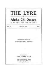 The Lyre of Alpha Chi Omega, Vol. 10, No. 3, March 1907