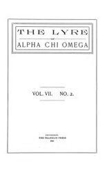 The Lyre of Alpha Chi Omega, Vol. 7, No. 2, June 1903