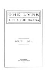 The Lyre of Alpha Chi Omega, Vol. 7, No. 4, January 1904
