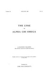 The Lyre of Alpha Chi Omega, Vol. 11, No. 2, January 1908
