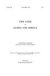 The Lyre of Alpha Chi Omega, Vol. 12, No. 1, November 1908