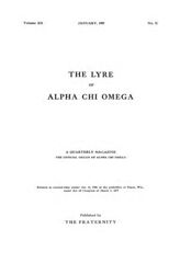 The Lyre of Alpha Chi Omega, Vol. 12, No. 2, January 1909