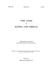 The Lyre of Alpha Chi Omega, Vol. 12, No. 3, April 1909