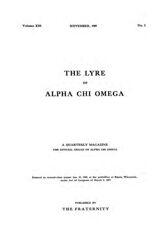 The Lyre of Alpha Chi Omega, Vol. 13, No. 1, November 1909