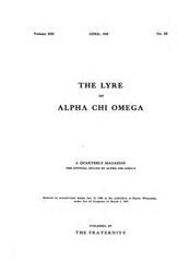 The Lyre of Alpha Chi Omega, Vol. 13, No. 3, April 1910