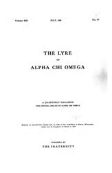 The Lyre of Alpha Chi Omega, Vol. 13, No. 4, July 1910