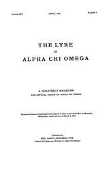 The Lyre of Alpha Chi Omega, Vol. 14, No. 3, April 1911