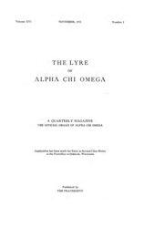 The Lyre of Alpha Chi Omega, Vol. 16, No. 1, November 1912