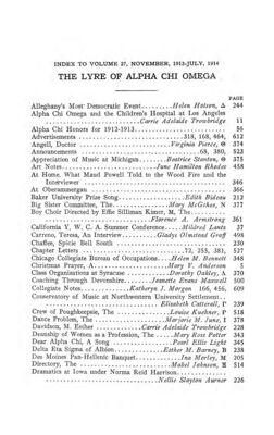 The Lyre of Alpha Chi Omega, Vol. 18, No. 1, November 1914