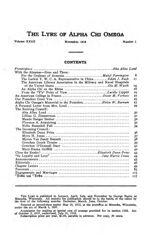 The Lyre of Alpha Chi Omega, Vol. 23, No. 1, November 1919