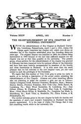 The Lyre of Alpha Chi Omega, Vol. 24, No. 3, April 1921