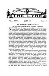 The Lyre of Alpha Chi Omega, Vol. 24, No. 4, July 1921