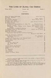 The Lyre of Alpha Chi Omega, Vol. 26, No. 1, October 1922
