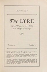 The Lyre of Alpha Chi Omega, Vol. 33, No. 3, March 1930