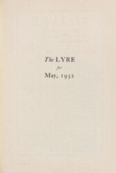 The Lyre of Alpha Chi Omega, Vol. 35, No. 4, May 1932