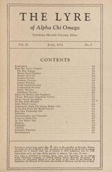 The Lyre of Alpha Chi Omega, Vol. 36, No. 4, June 1933