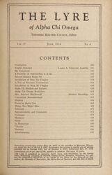 The Lyre of Alpha Chi Omega, Vol. 37, No. 4, June 1934