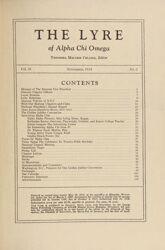 The Lyre of Alpha Chi Omega, Vol. 38, No. 1, November 1934