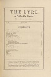 The Lyre of Alpha Chi Omega, Vol. 38, No. 4, June 1935