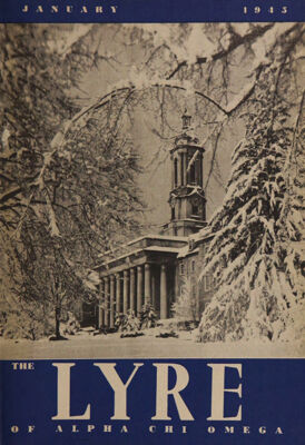 The Lyre of Alpha Chi Omega, Vol. 48, No. 2, January 1945