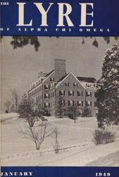 The Lyre of Alpha Chi Omega, Vol. 52, No. 2, January 1949