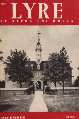 The Lyre of Alpha Chi Omega, Vol. 54, No. 2, December 1950