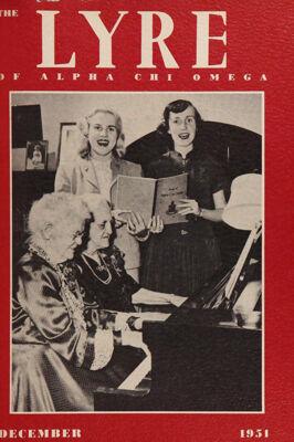 The Lyre of Alpha Chi Omega, Vol. 55, No. 2, December 1951
