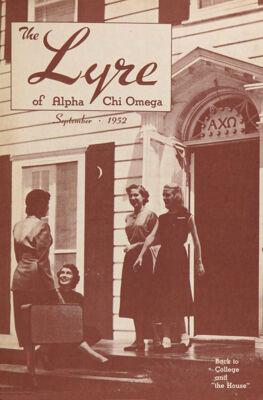 The Lyre of Alpha Chi Omega, Vol. 56, No. 1, September 1952