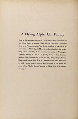 The Lyre of Alpha Chi Omega, Vol. 56, No. 4, May 1953