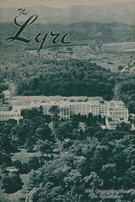The Lyre of Alpha Chi Omega, Vol. 58, No. 3, March 1955