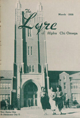 The Lyre of Alpha Chi Omega, Vol. 59, No. 3, March 1956