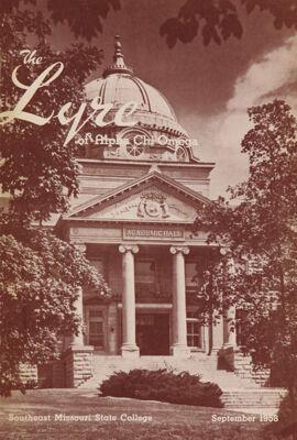 The Lyre of Alpha Chi Omega, Vol. 62, No. 1, September 1958