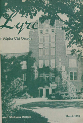 The Lyre of Alpha Chi Omega, Vol. 62, No. 3, March 1959