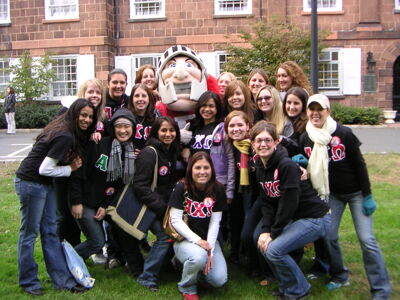 Theta Tau Chapter Members at Pre-Homecoming Rally, October, 2005