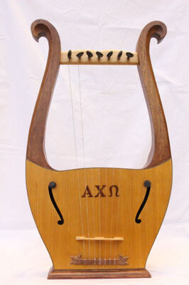 Full-sized Wooden Lyre Instrument, 1985