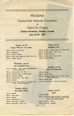 National Convention Program, 1947