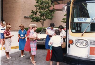 Bus to DePauw Day, 1985 National Convention